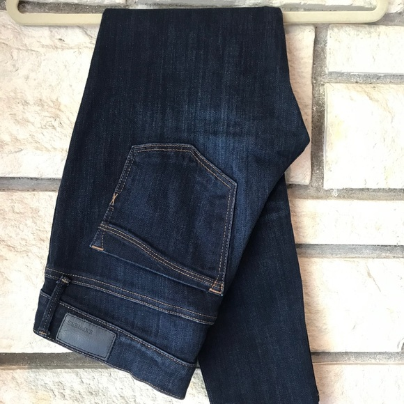 Express Mid Rise Dark Wash Legging Jeans